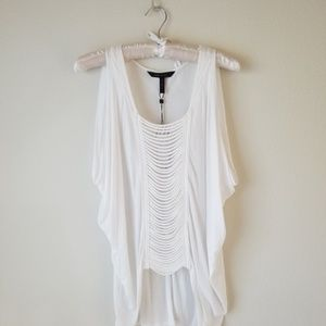 BCBG MaxAzria white breezy tunic